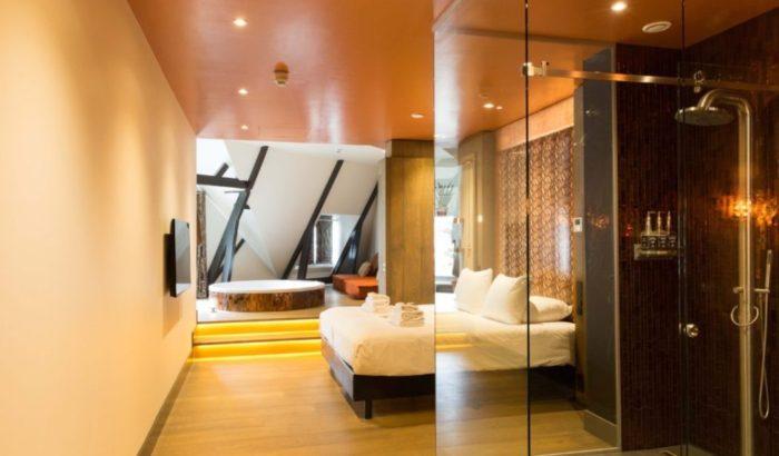 boutique-hotel-zaandam-manzo-kamer-loft-bed-bad-douche-koper-details